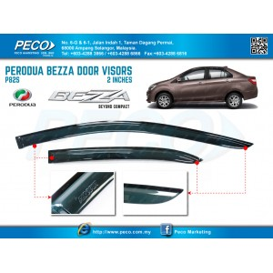 PERODUA BEZZA DOOR VISORS - 2 INCHES