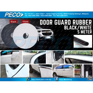 Door Guard rubber Black/White 5 meter