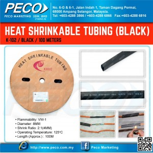 Heat Shrinkable Tubing - Black