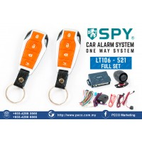 SPY Auto Security Car Alarm System One Way System - LT106 - 521