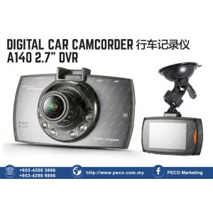 "DIGITAL CAR CAMCORDER A140 2.7"" DVR"