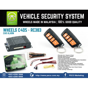Wheels Vehicle Security System C4D5 - RC383