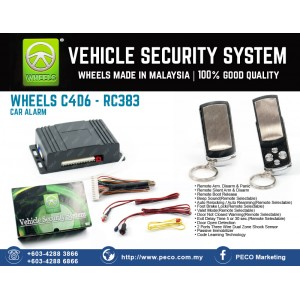 Wheels Vehicle Security System C4D6 - RC383