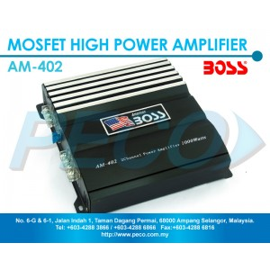 American Boss 2 Channel Mosfet High Power Amplifier - AM-402