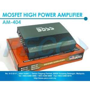 American Boss  4 Channel Mosfet High Power Amplifier - AM-404