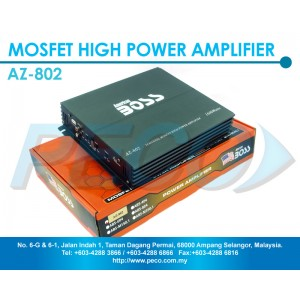 American Boss 2 Channel Mosfet High Power Amplifier - AZ-802