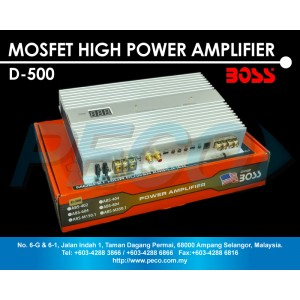 American Boss Class D Digital Mono Block Power Amplifier- D-500