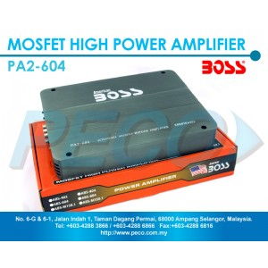 American Boss 4 Channel Mosfet High Power Amplifier - PA2-604