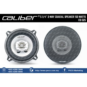 "Caliber 5 1/4"" 2 WAY COAXIAL SPEAKER 150 WATTS CS-525"