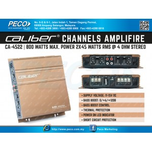 Caliber CA-4522 | 800 watts max. power 2x45 watts rms 4 ohm Stereo