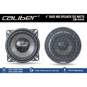 "Caliber 4"" BASS MID SPEAKER 150 WATTS CW-4444"