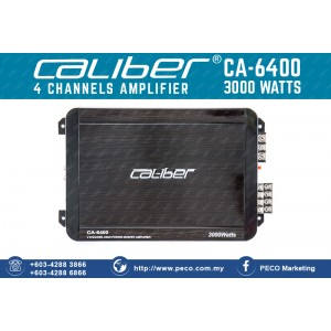 Caliber CA-6400 4 CHANNELS AMPLIFIER 3000 WATTS