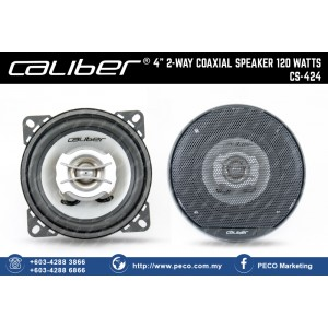"Caliber 4"" 2 WAY COAXIAL SPEAKER 120 WATTS CS-424"