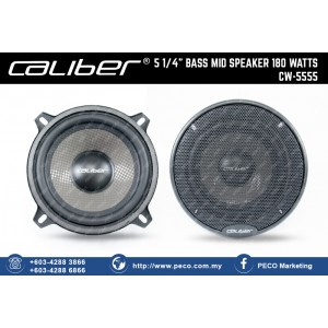 "Caliber 5 1/4"" BASS MID SPEAKER 180WATTS CW-5555"