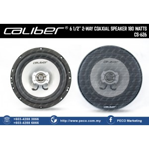 "Caliber 6 1/2"" 2-WAY COAXIAL SPEAKER 180 WATTS CS-626"