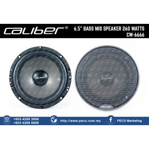 "Caliber 6.5"" BASS MID SPEAKER 260 WATTS CW-6666"
