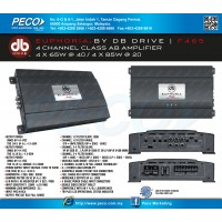 EUPHORIA BY DB DRIVE F465 4 Channel Class AB Amplifier