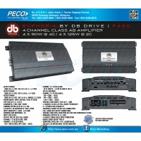 EUPHORIA BY DB DRIVE F490 4 Channel Class AB Amplifier