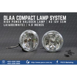 DLAA COMPACT LAMP SYSTEM HIGH POWER HALOGEN LAMP LA-1600 WHITE