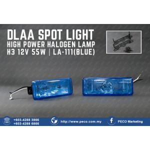 DLAA SPOT LIGHT HIGH POWER HALOGEN LAMP LA-111 BLUE