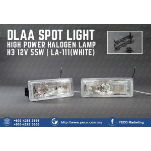 DLAA SPOT LIGHT HIGH POWER HALOGEN LAMP LA-111 WHITE