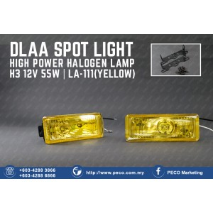DLAA SPOT LIGHT HIGH POWER HALOGEN LAMP LA-111 YELLOW