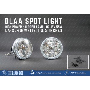 DLAA SPOT LIGHT HIGH POWER HALOGEN LAMP LA-2040 WHITE