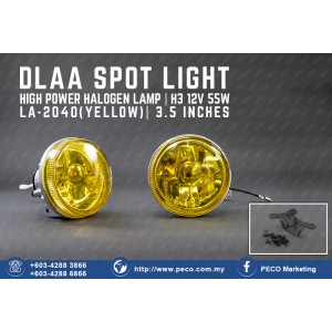 DLAA SPOT LIGHT HIGH POWER HALOGEN LAMP LA-2040 YELLOW