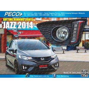Fitt Daytime Running Light On Fog Lamp Cover R/L Honda Jazz 2014