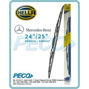 "Original Hella Mercedes Benz Wiper Blades- 24"" & 25"""