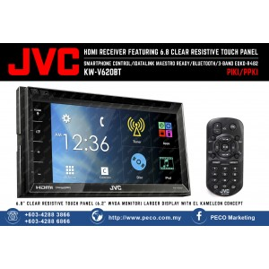 JVC 2-DIN AV Receiver KW-V620BT with Mirror Link