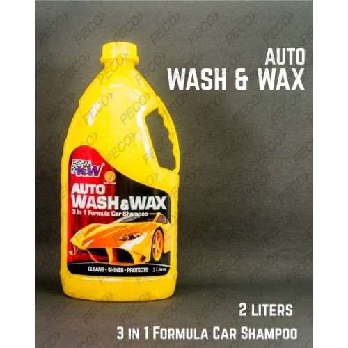 Home KW Auto WASH And WAX 3 in 1 Formula Car Shampoo