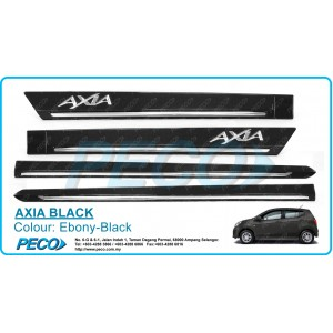 Perodua AXIA OEM Side Moulding - Ebony Black