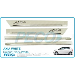 Perodua AXIA OEM Side Moulding - Ivory White