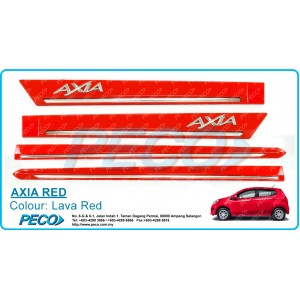 Perodua AXIA OEM Side Moulding - Lava Red