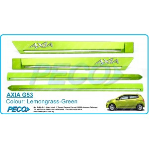 Perodua AXIA OEM Side Moulding - Lemongrass Green