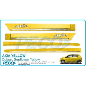 Perodua AXIA OEM Side Moulding - Sunflower Yellow