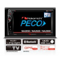 "Nakamichi NA2850 AV RECEIVER with 6.2"" touch panel"