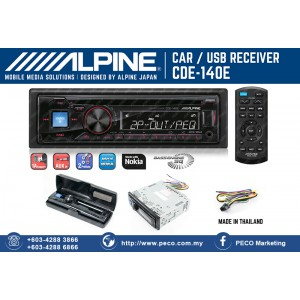 ALPINE CAR USB RECEIVER CDE-140E