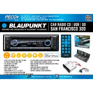 BLAUPUNKT San Francisco 320 USB / SD / AUX input / MP3 car radio