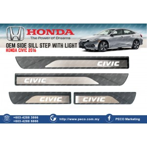 Honda Civic 2016 OEM SIDE SILL STEP WITH LIGHT