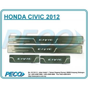 Honda Civic 2012 Side Sill Plate with LED Light