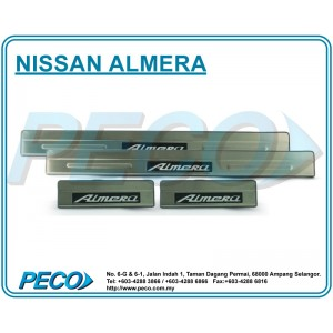 Nissan Almera Side Sill Plate with LED Light