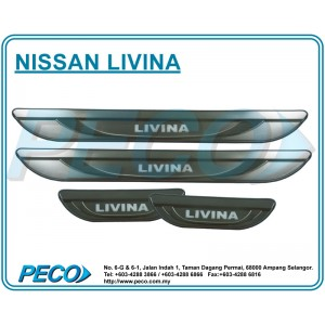 Nissan Livina Side Sill Plate with LED Light