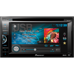 "Pioneer AVH-165DVD - In-Dash Double-DIN DVD Multimedia AV Receiver with 6.1"" VGA Touch Display and USB Direct Control for Certain Android Phones"
