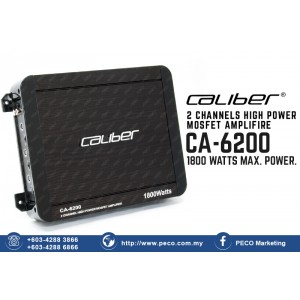 Caliber CA-6200 1800 watts HIGH POWER MOSFET Amplifire