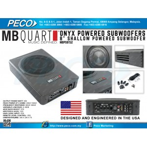 "MB QUART ONYX POWERED SUBWOOFERS 8"" Shallow Powered Subwoofer"