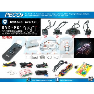 Magic Voice 360 3D Surround View DVR PC1