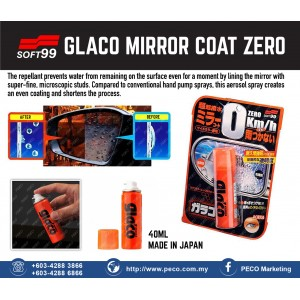 SOFT99 Glaco Mirror Coat Zero - Made in Japan