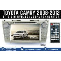 "TOYOTA CAMRY 2008-2012 8"" 2 DIN DVD/SD/USB/MP3/MONITOR without GPS"